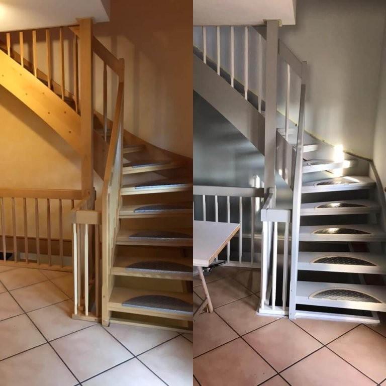 Treppen Streichen Mit Kreidefarbe von Treppe Streichen Welche Farbe Photo