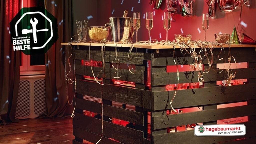 """Tresen Aus Paletten Selber Bauen  Diyanleitung """"mobile Partybar von Theke Aus Europaletten Anleitung Bild"""
