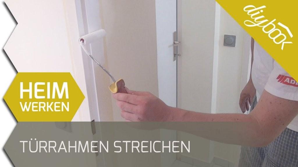 Türrahmen Streichen  Youtube von Kann Man Furnierte Türen Streichen Bild