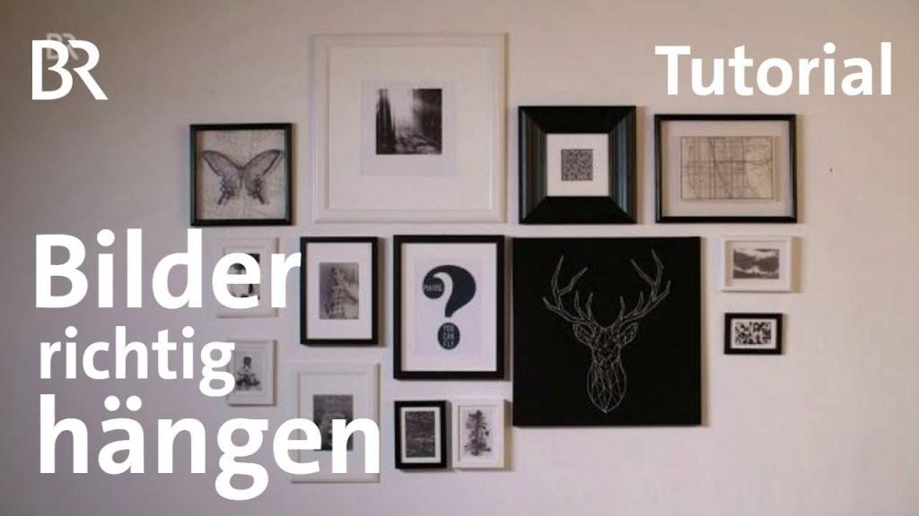 Tutorial Bilderrahmen Richtig Aufhängen  Milberg  Wagner  Br von Ikea Bilderrahmen Ribba Aufhängen Bild