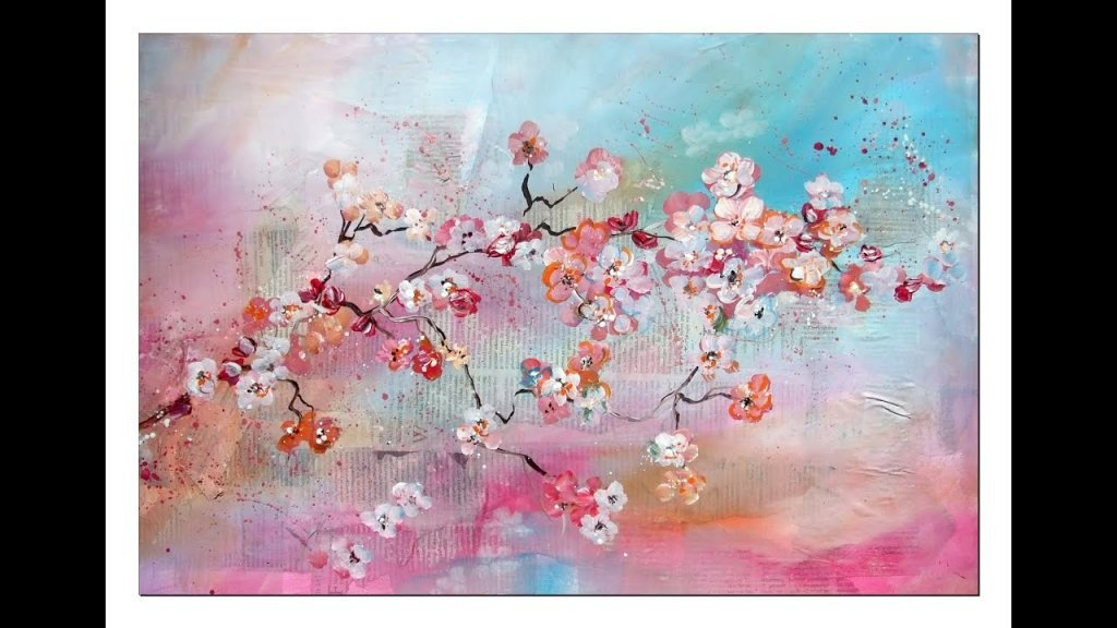 Tutorial Kirschblüten Malen (Anfänger) Cherry Blossoms(Beginners von Acrylbilder Für Anfänger Anleitung Bild