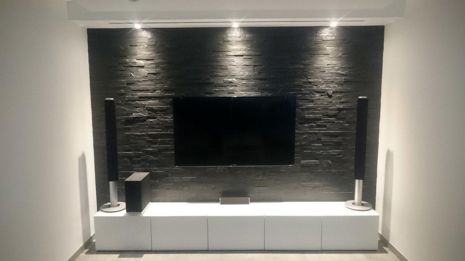 Tv An Wand Kabel Verstecken Prime –· Multimedia Wohnzimmer Mit von Tv An Wand Kabel Verstecken Bild