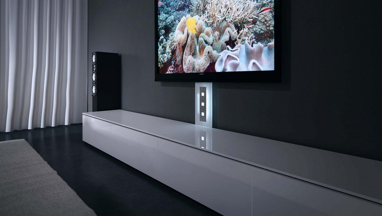 Tv Kabelkanal  Visioglas von Fernseher An Die Wand Hängen Kabel Verstecken Photo
