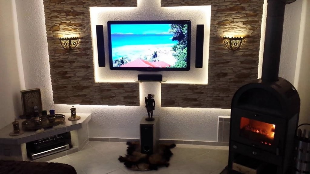 Tv Led Cinewall Mediawand Im Eigenbau  Youtube von Media Wand Selber Bauen Bild