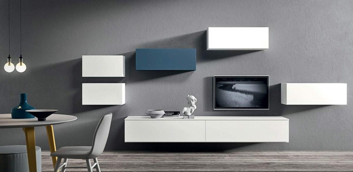 Tv Möbel Trends 2015  Endlich Alle Kabel Verstecken von Lowboard Weiß Hochglanz Zum Hängen Bild