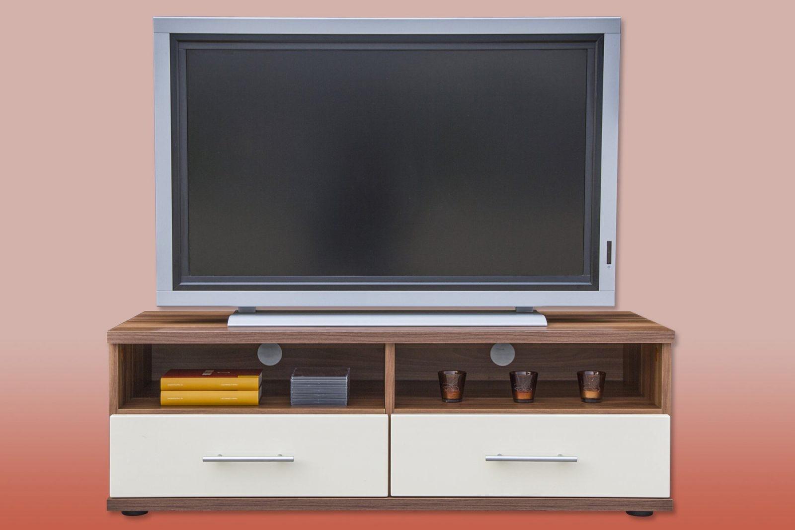 Tv Schrank Nussbaum Xana Möbel Massivholz Tv Möbel Tv Schrank Tv von Tv Schrank Für Ecke Bild