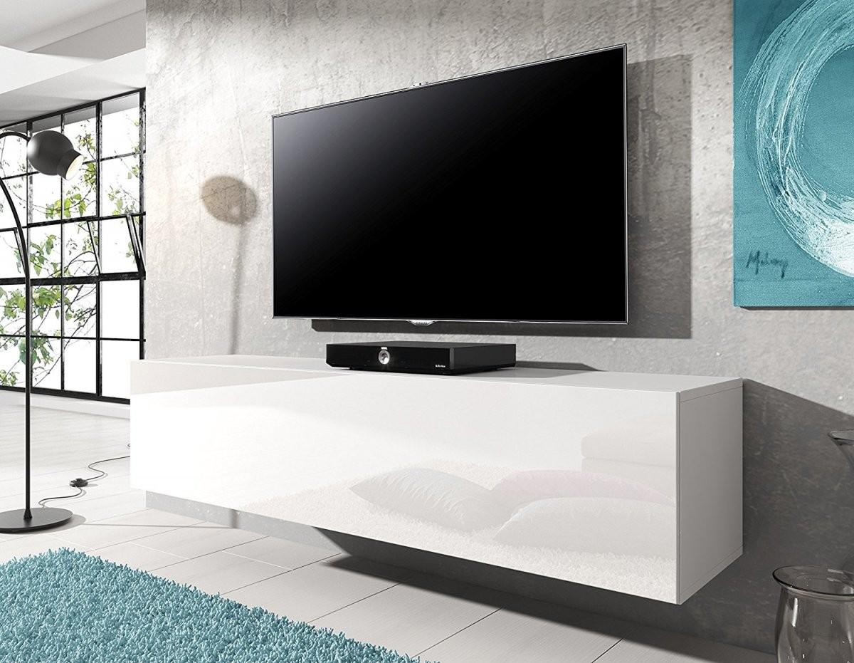 Tv Schrank Weiß Hochglanz Hängend  Cabinetworlddesign von Tv Lowboard Weiß Hochglanz Hängend Bild