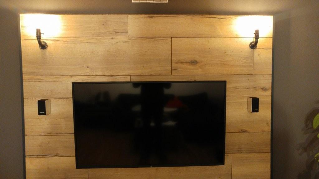 Tv Wand Aus Eichen Parkett Oder Laminat  Bauanleitung Zum von Tv Wand Selber Bauen Laminat Bild