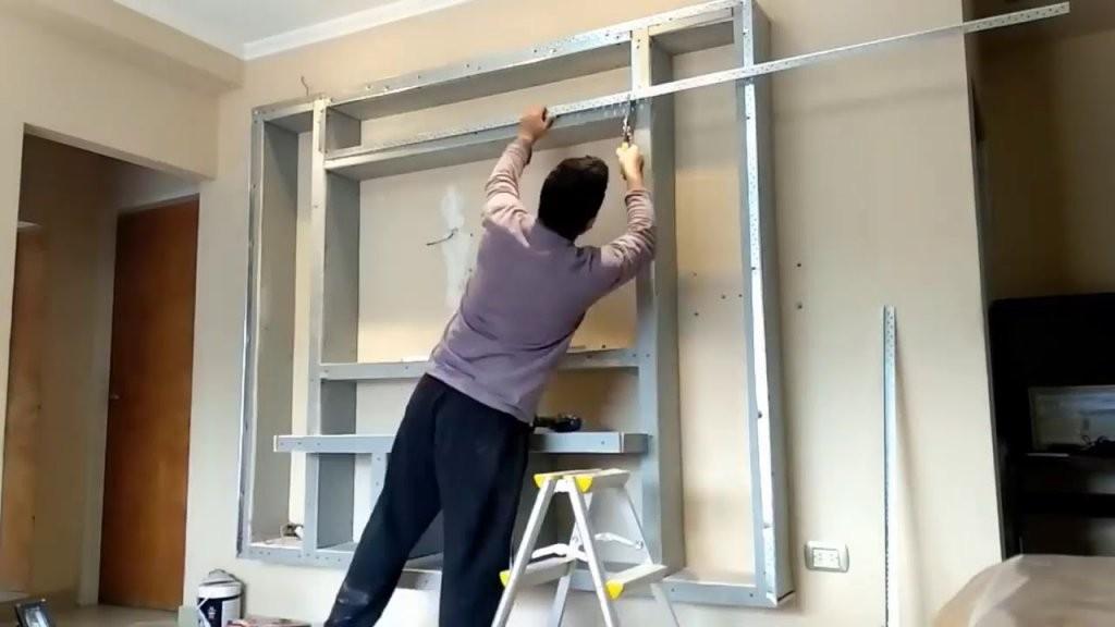 Tv Wand Selber Bauen Für Heimkino  Fernsehwand Selber Bauen  Youtube von Fernseher Wand Selber Bauen Bild