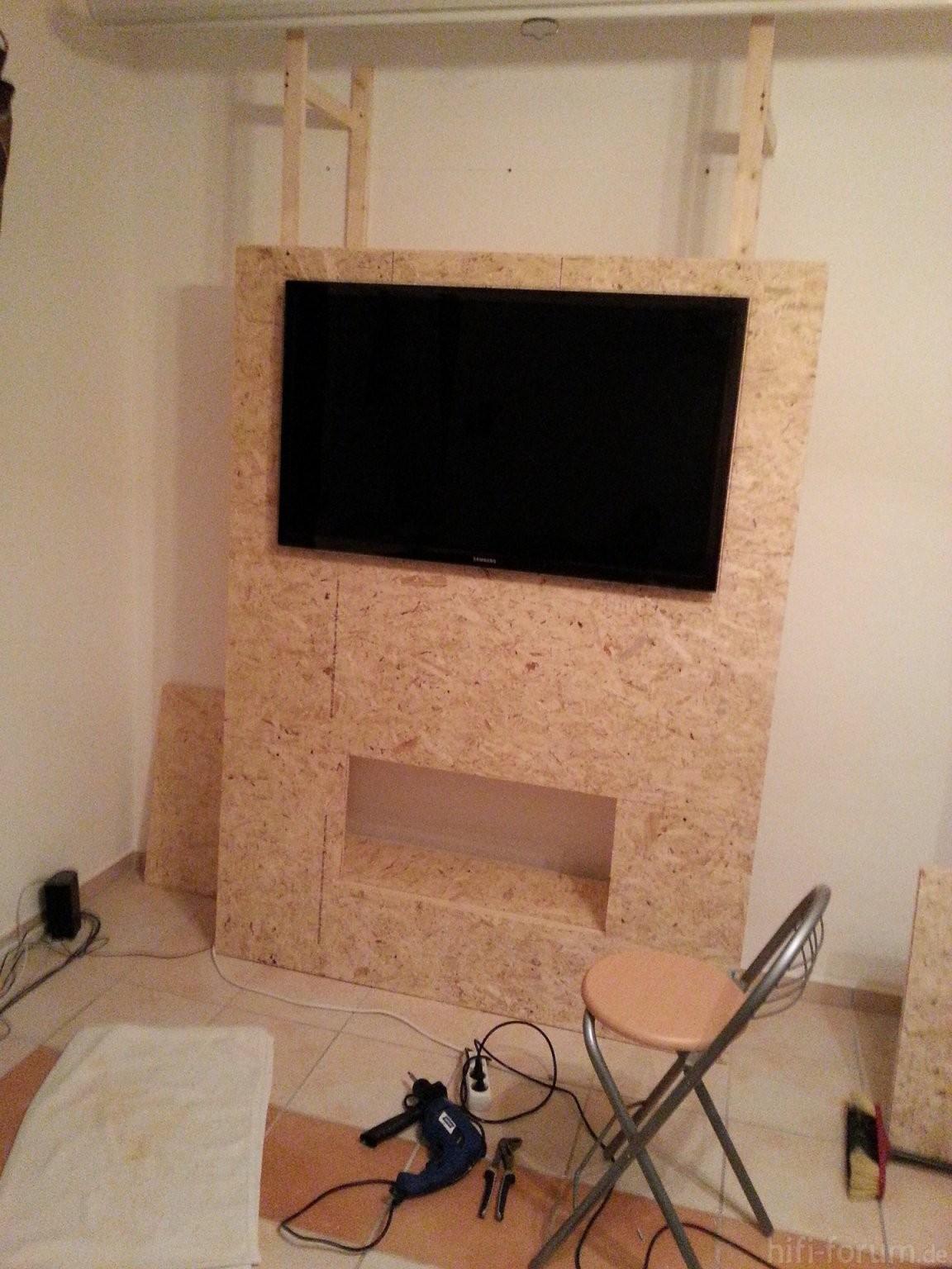 Tv Wand Selber Bauen Racks Gehäuse  Hififorum von Fernseher Wand Selber Bauen Photo