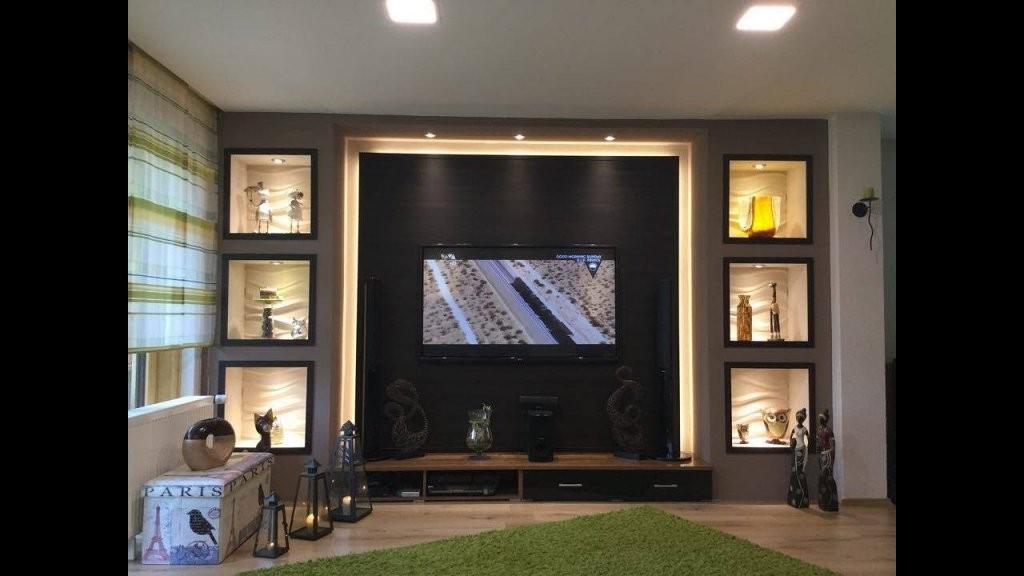 Tv Wand Selber Bauen Wohnzimmer Living Room Tv Wall  Youtube von Fernseher Wand Selber Bauen Bild