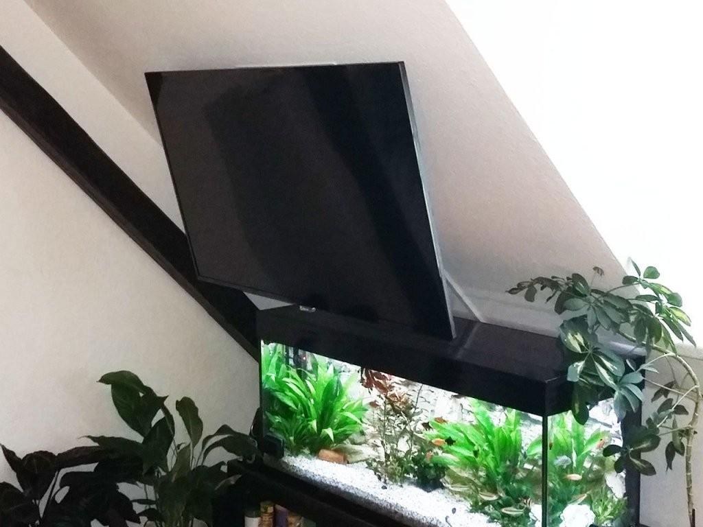 Tv Wandhalterung Für Dachschrägen  Cmbangleflip  Wohnambiente von Bilder An Schrägen Wänden Bild