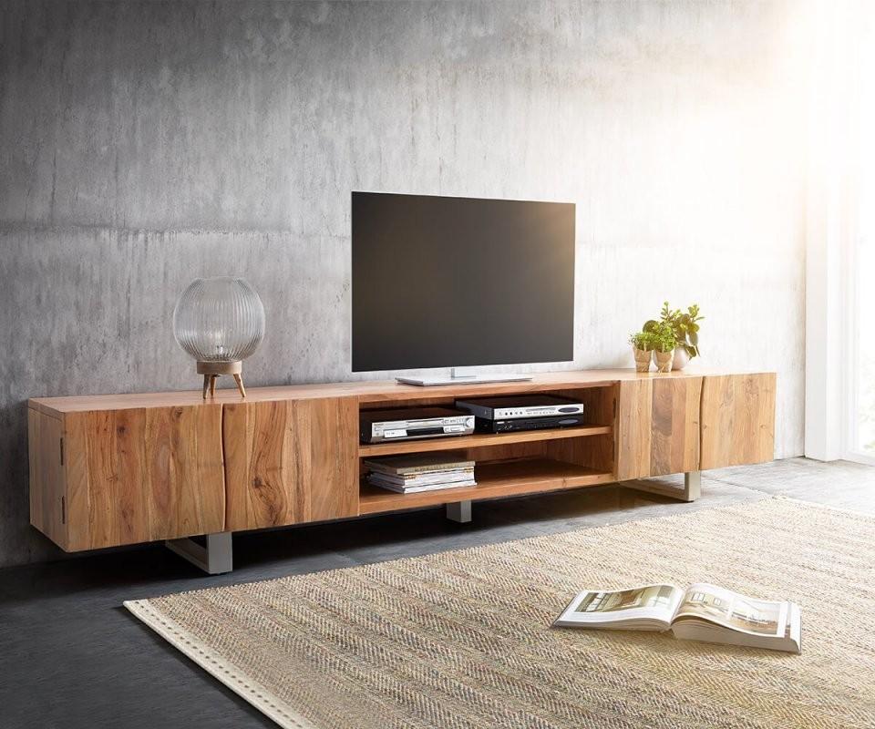 Tvmeubel Liveedge 300 Cm Acacia Natuur 4 Deuren 2 Vakken Meubels von Tv Lowboard 300 Cm Bild