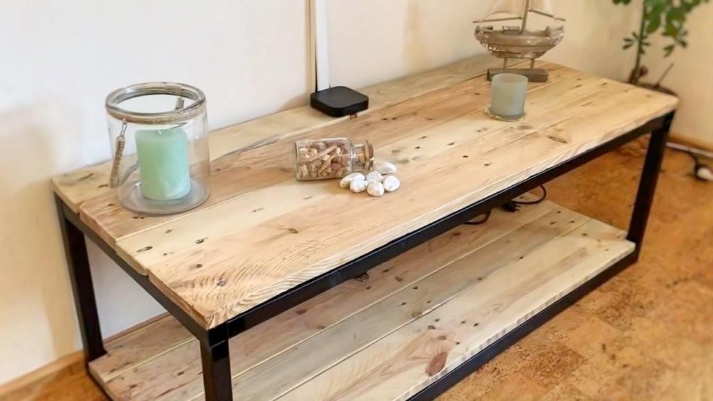 Tvschrank Selber Bauen (Industrial Stylereihe  Teil 1)  Youtube von Tv Möbel Selber Bauen Bild