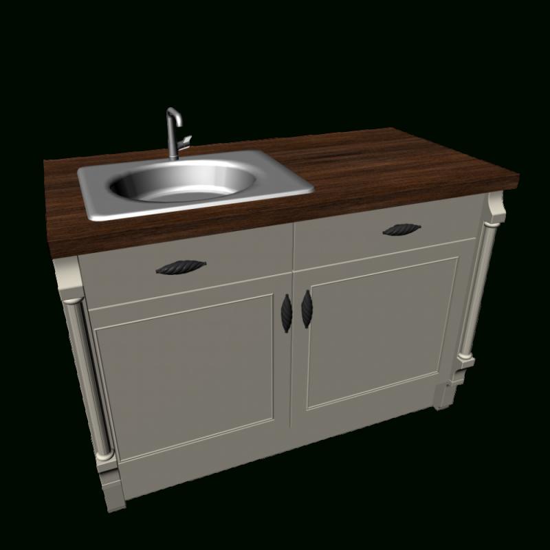 Unterschrank Mit Spüle Landhaus Küche  Einrichten  Planen In 3D von Küchen Unterschrank Mit Spüle Photo