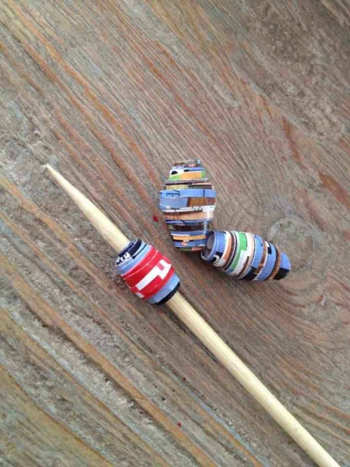 Upcycling Perlen Aus Papier  Crafts  Papierperlen Recycling von Recycling Ideen Selber Machen Bild