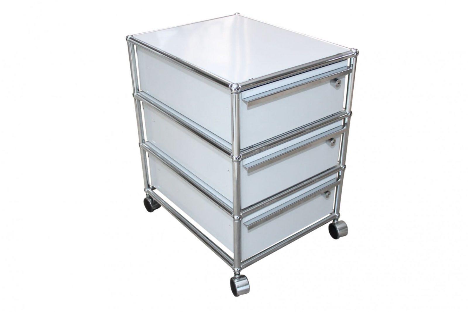 Usmhaller Rollcontainer Gebraucht Lichtgrau  Abschließbar von Usm Haller Gebraucht Kaufen Bild