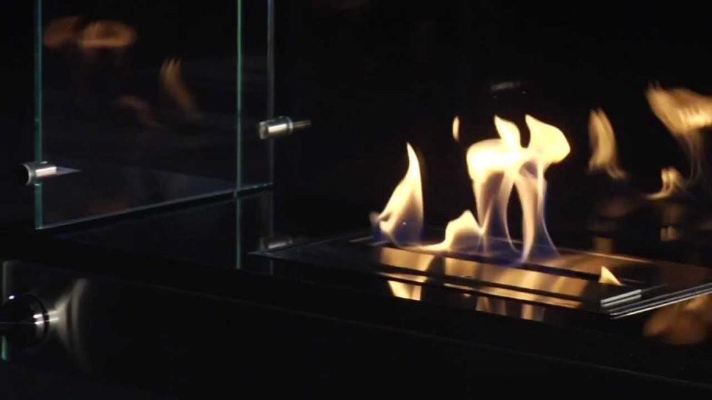 Vauni Divider Bioethanol Kamin  Echtes Feuer Ohne Schornstein  Youtube von Kamin Ohne Echtes Feuer Bild