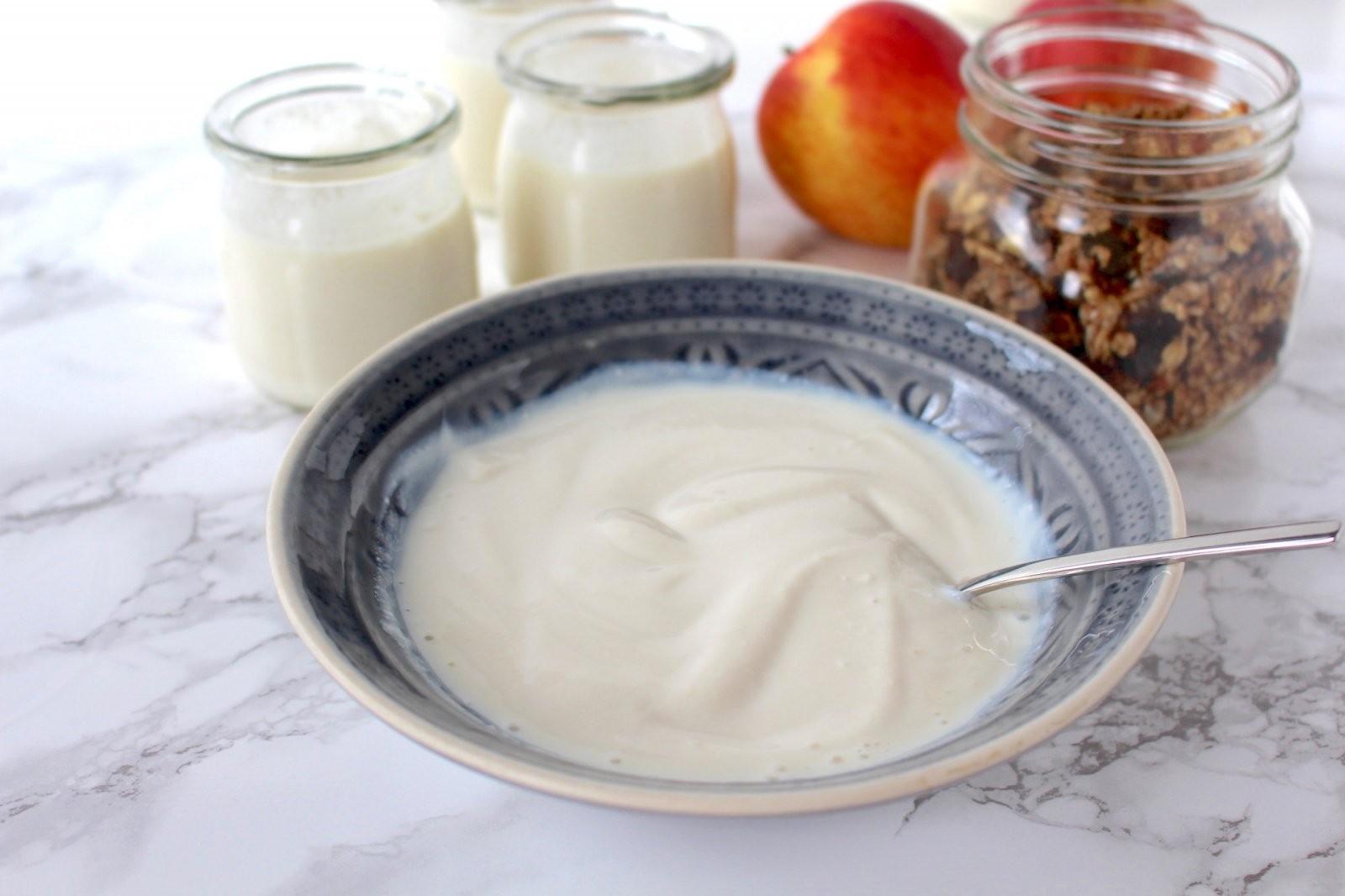 Veganer Joghurt  Rezept Zum Selbermachen  Minamade von Joghurt Selber Machen Vegan Bild