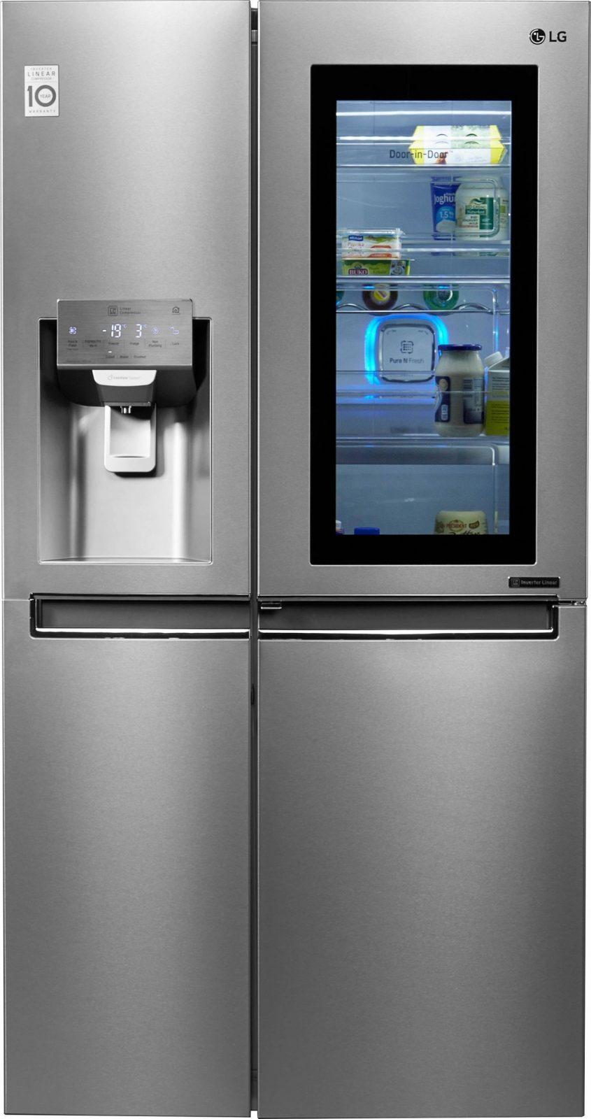 Vergleich Sideside Kühlschrank Ohne Festwasseranschluss von Side By Side Samsung Schwarz Bild
