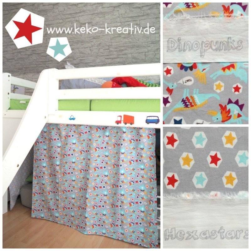 Verkleidung Aus Stoff Für Das Hochbett Nähen von Gardinen Selber Nähen Faltenband Bild
