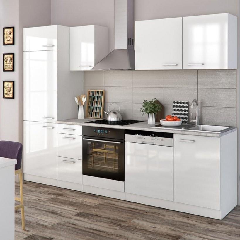 Vicco Küche 270 Cm Küchenzeile Küchenblock Einb  Real von Küche Mit E Geräten Ohne Kühlschrank Bild