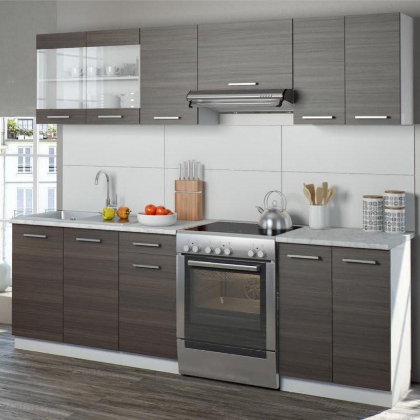 Vicco Küche Raul Küchenzeile Küchenblock Einbauküche  Real von Küchenzeile Mit Elektrogeräten Ohne Kühlschrank Bild