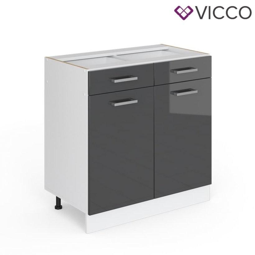 Vicco Schubunterschrank 80 Cm Ohne Arbeitsplatte K  Real von Küchen Unterschrank Ohne Arbeitsplatte Bild