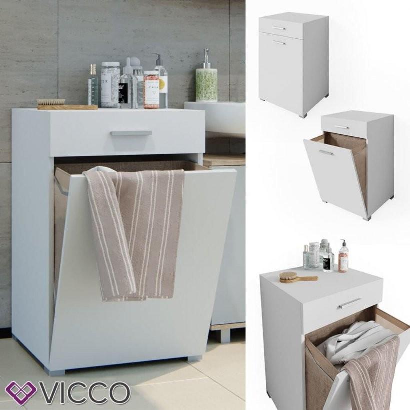 Vicco Wäschekorb Matteo Weiß Waschmaschinenschrank Ba  Real von Badschrank Mit Integriertem Wäschekorb Photo