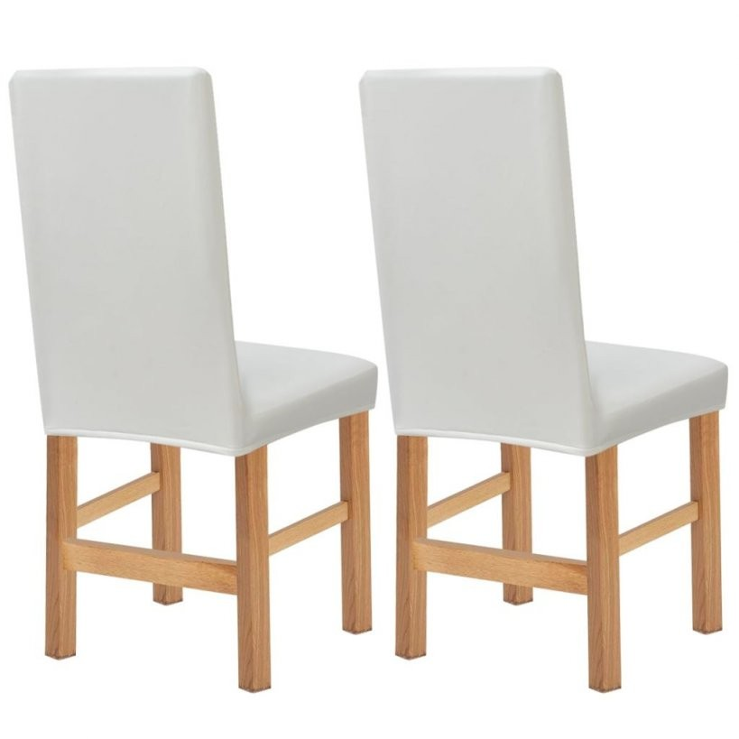 Vidaxl Stretch Stuhlhussen 2 Stk Weiß Kunstwildleder Günstig Kaufen von Stuhlhussen Stretch Günstig Kaufen Photo