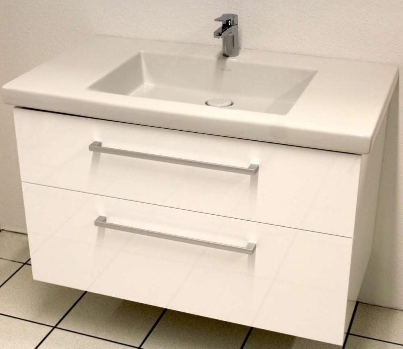 Villeroy  Boch Serie 100 Waschtisch + Unterschrank Breite 100 von Villeroy Und Boch Doppelwaschbecken Mit Unterschrank Bild