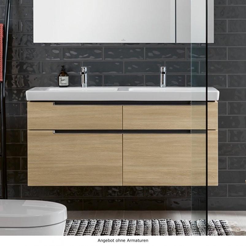 Villeroy  Boch Subway 20 Badmöbel Als Waschtischset von Villeroy Und Boch Doppelwaschbecken Mit Unterschrank Bild