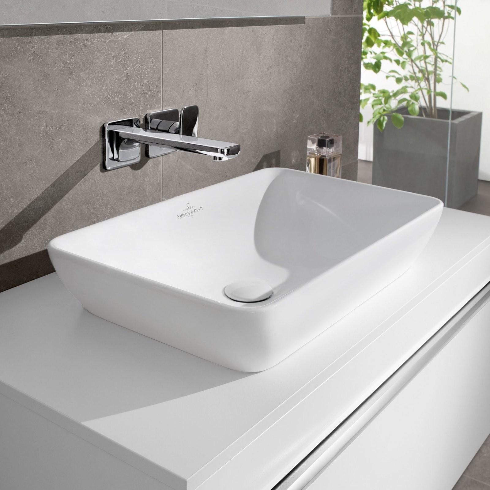Villeroy  Boch Venticello Halbeinbauaufsatzwaschtisch Weiß Mit von Doppelwaschtisch Villeroy Und Boch Photo