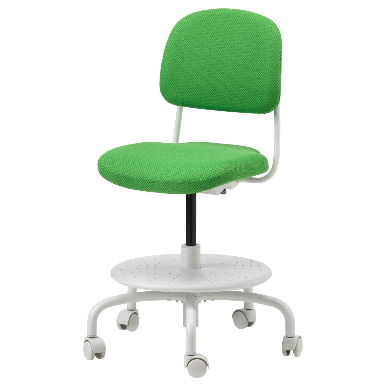 Vimund Schreibtischstuhl Für Kinder  Leuchtend Grün  Ikea von Schreibtischstuhl Ohne Rollen Ikea Bild