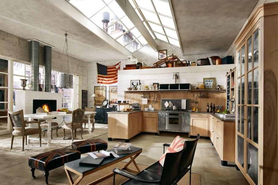 Vintageküchen Aus Vollholz  Edlelandhauskuechen von Küchen Im Vintage Stil Photo
