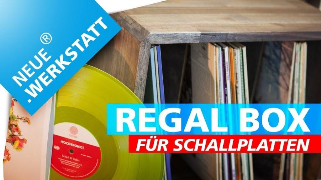 Vinyl Regal Bauen + Holz Beizen  Regalbox Für Schallplatten Selber von Schallplatten Regal Selber Bauen Photo