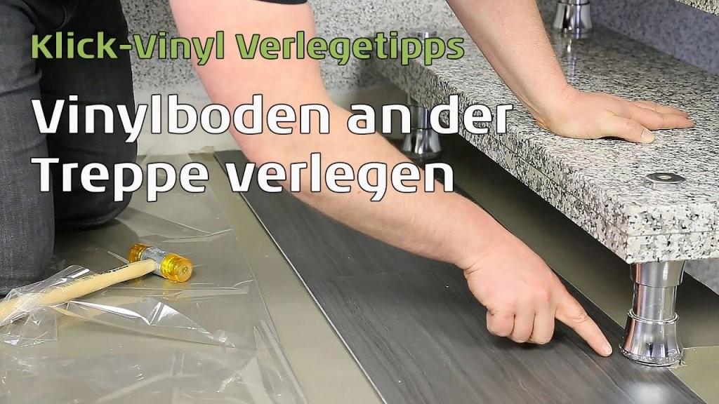 Vinylboden An Der Treppe Verlegen  Youtube von Treppe Mit Vinyl Bekleben Photo
