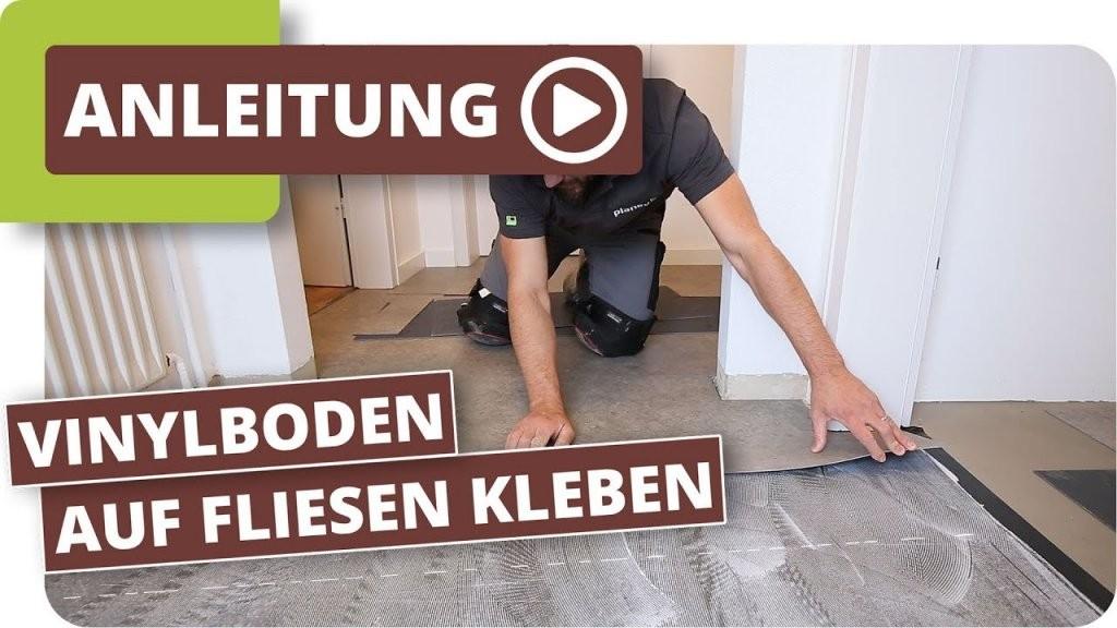 Vinylboden Auf Fliesen Kleben  Youtube von Kann Man Vinylboden Auf Fliesen Verlegen Photo