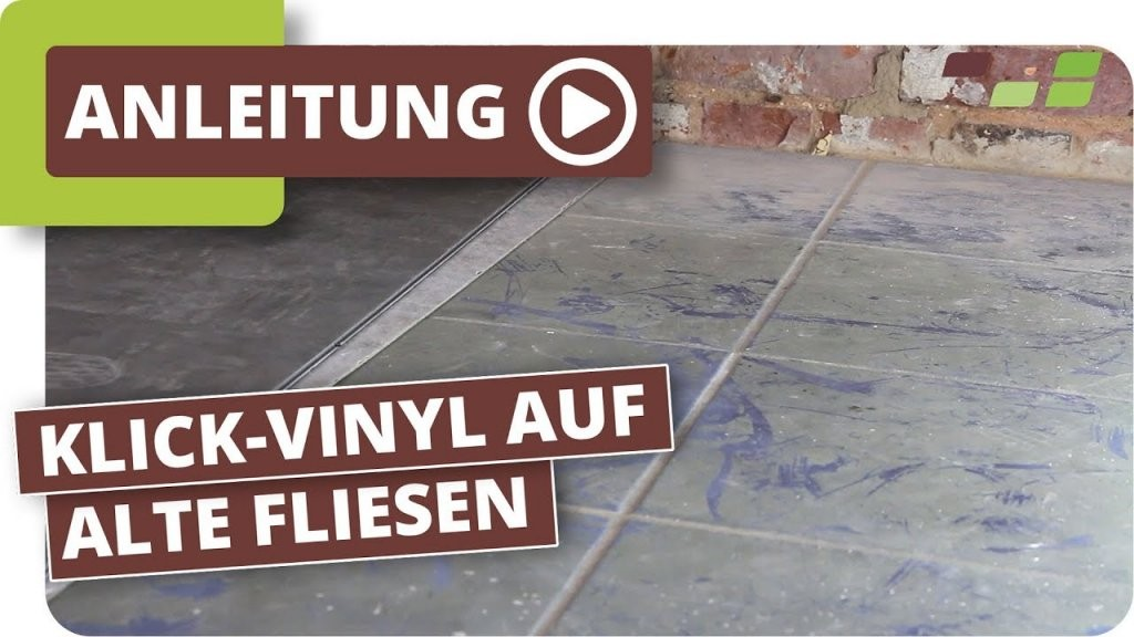 Vinylboden Auf Fliesen Verlegen Planeo Klickvinyl  Youtube von Kann Man Vinylboden Auf Fliesen Verlegen Bild