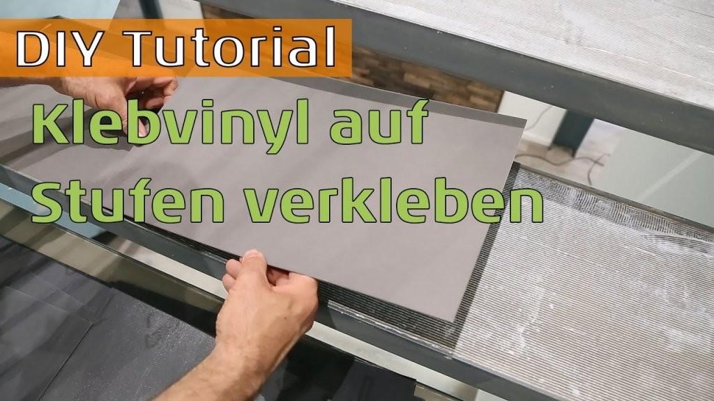 Vinylboden Auf Stahltreppe Mit Betonstufen Kleben  Youtube von Treppe Mit Vinyl Bekleben Bild