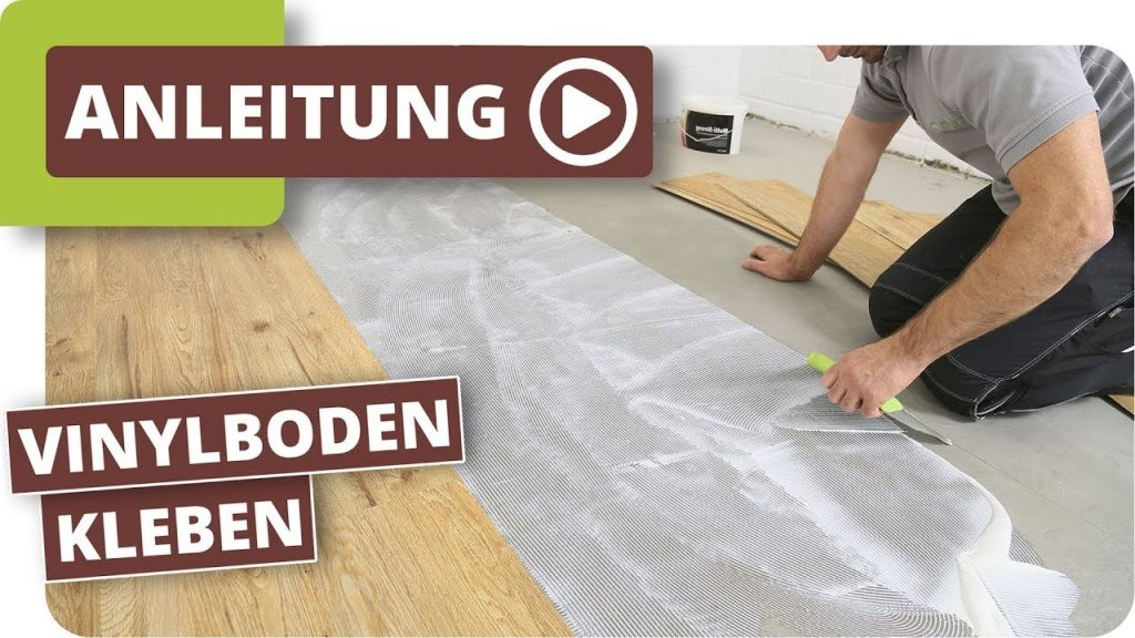 Vinylboden Kleben  Verlegeanleitung Für Vinylsheets  Youtube von Vinyl Laminat Selbstklebend Verlegen Bild