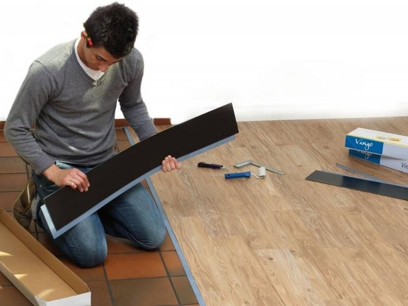 Vinylplanken Auf Fliesen Legen  Heimwerken  Fliesen Legen Vinyl von Vinyl Laminat Auf Fliesen Verlegen Photo