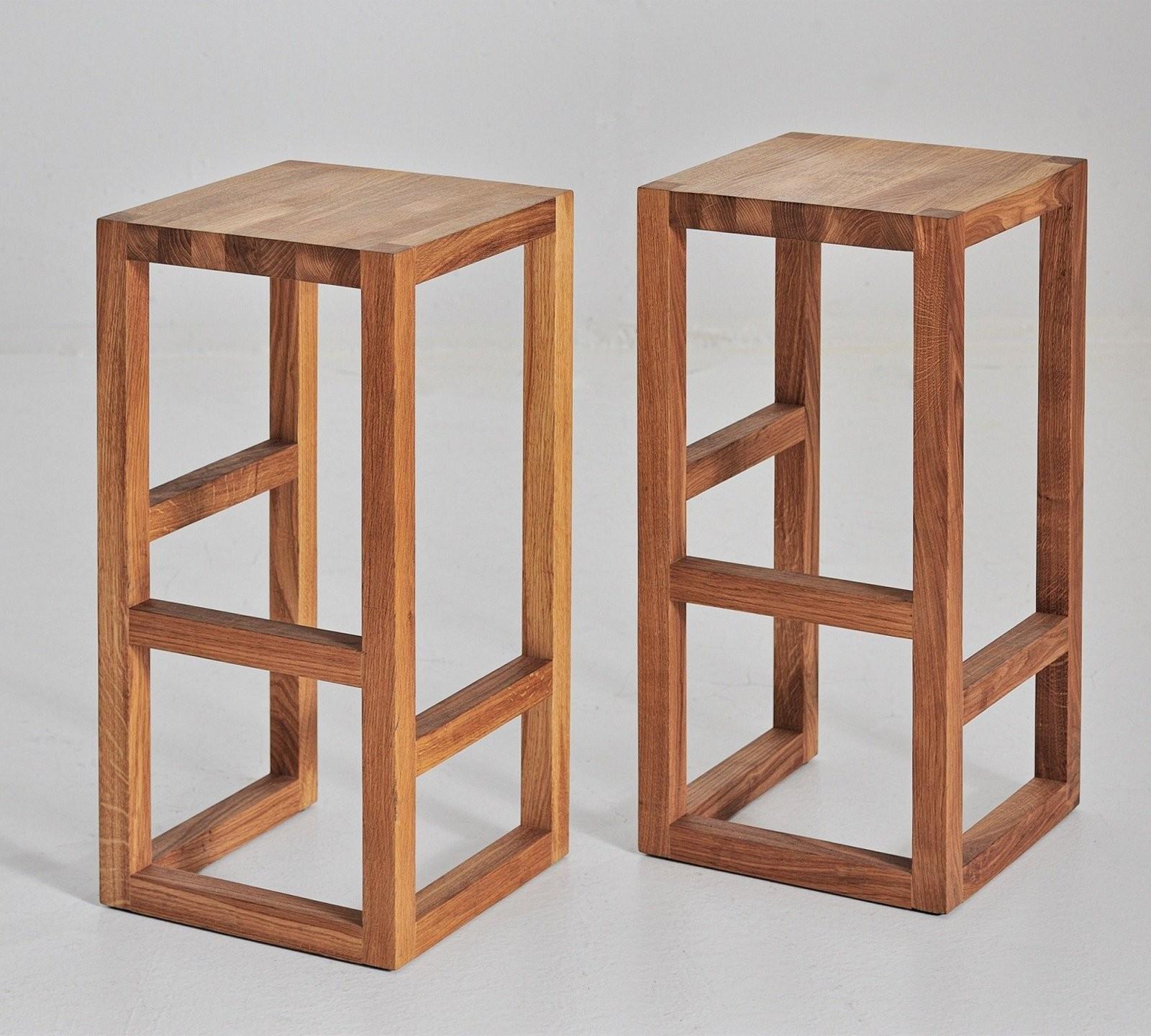 Vitamin Design Step Barhocker Massivholz Höhe 74Cm 10008295 And von Barhocker Holz Selber Bauen Photo