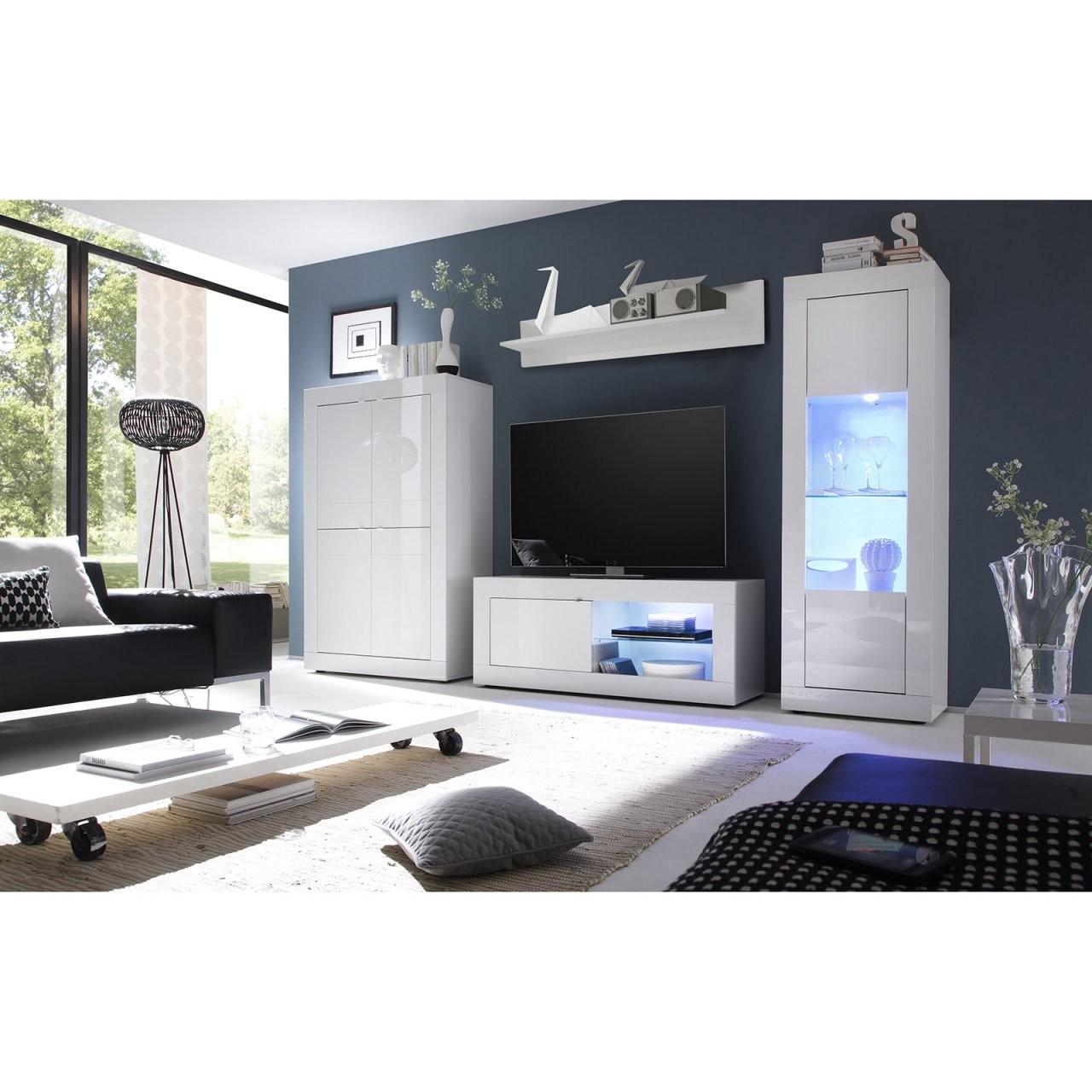 Vitrine Basic  Weiß Hochglanz  61 Cm Breit  Online Bei Roller Kaufen von Roller Wohnwand Weiß Hochglanz Bild