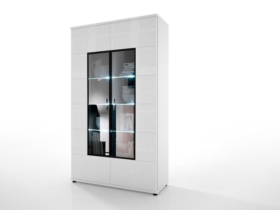 Vitrine Corano Weiß Hochglanz  Möbel  Ambiente von Wohnzimmer Vitrine Weiß Hochglanz Bild