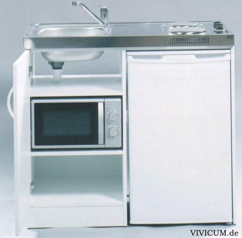 Vivicum  Miniküche Mit Kühlschrank Und Mikrowelle 100 Cm Günstig von Kühlschrank 100 Cm Breit Bild