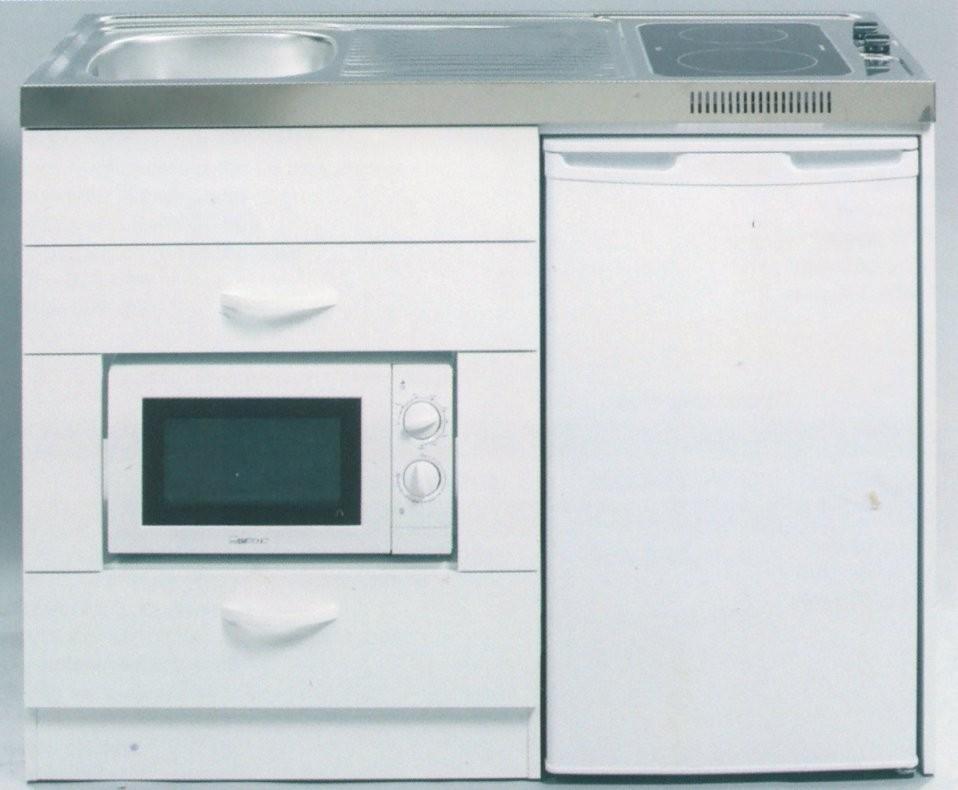 Vivicum  Miniküche Mit Kühlschrank Und Mikrowelle 120 Cm Günstig von Kühlschrank 100 Cm Breit Bild
