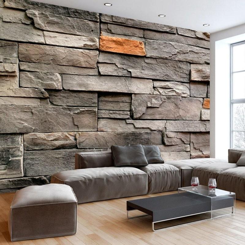 Vlies Fototapete Tapeten Steine Wand Mauer …  Sala  Wall … von Tapeten In Steinoptik 3D Bild