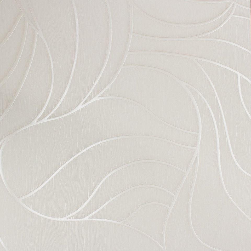 Vliestapete Luigi Colani Struktur Creme Weiß 53361 von Vliestapete Weiß Mit Struktur Bild