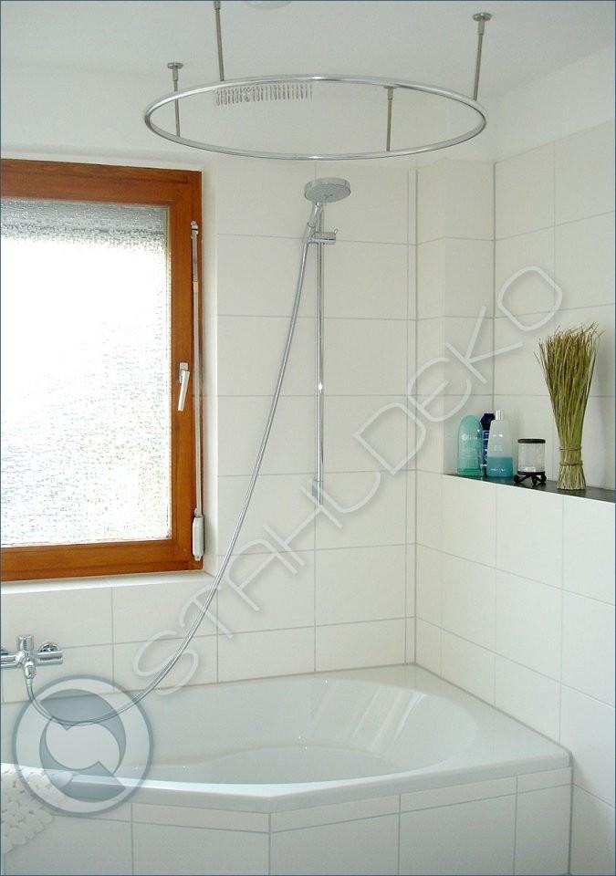 Vollkreis Duschvorhangstange Als Ring Gebogen Für Dusche Und Badewanne von Duschvorhang Mit Stange Für Badewanne Bild
